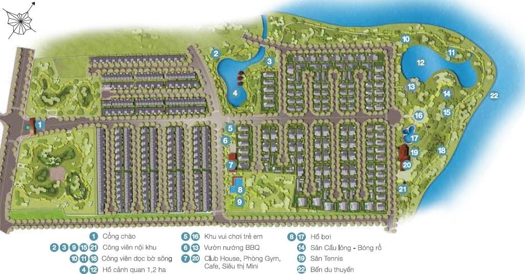 mặt bằng tổng thể dự án park riverside
